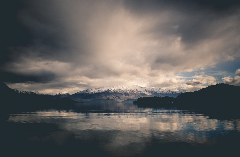 naturalsceneries: Lake Wanaka in the beautiful South Island of New Zealand, just after a night of rain. Source: simantics (reddit)