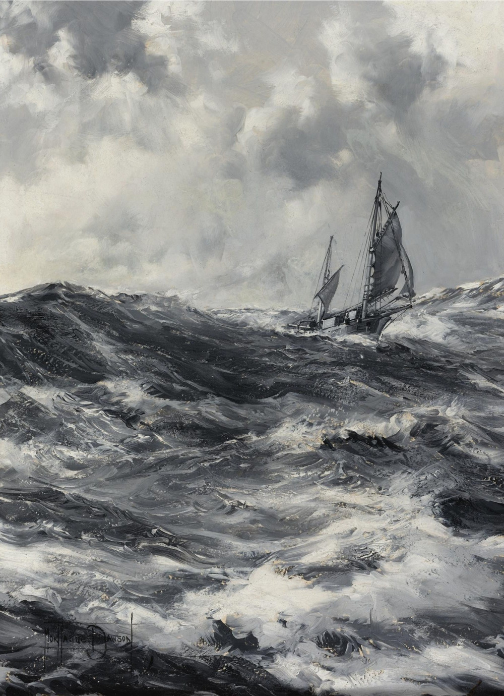 commanderspook :      laclefdescoeurs       The Captain Slocum- Spray , Montague Dawson