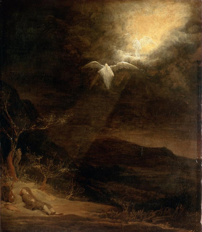 arcadiainteriorana :      Jacob's Dream   Aert de Gelder  (Dutch, 1645-1727)   Oil on canvas, 569 x 667cm, 1710-15. Dulwich Picture Gallery.