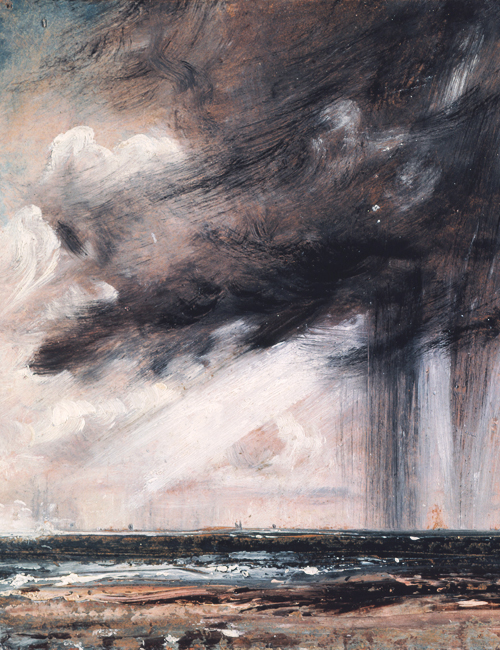 meiringens: Seascape Study with Rain Cloud (detail), John Constable, 1828.