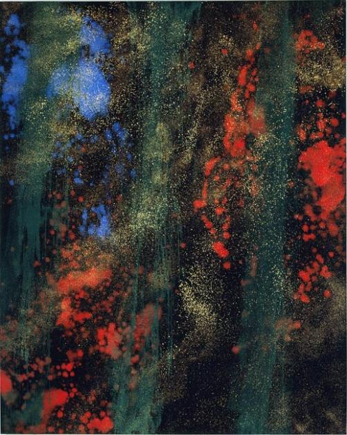 """modernilluminators: John 1:1-5 Illuminated by Makoto Fujimura In the Beginning by Makoto Fujimura """"In the beginning wasthe Word, andthe Word was with God,… View Post"""