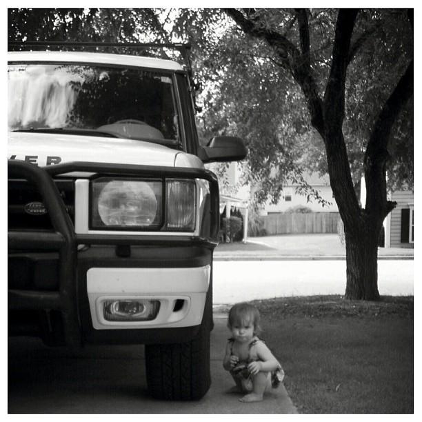 Has anyone seen Zion? #checking #tire #pressure #motorheadpixie