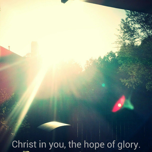 The hope of glory.
