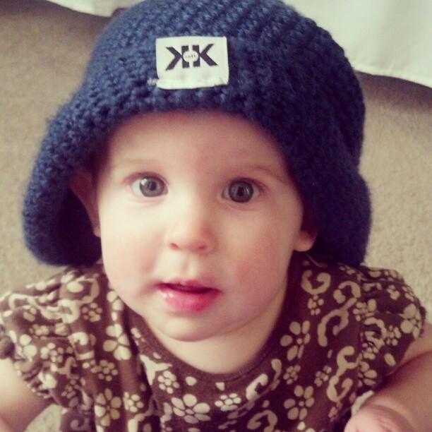 Auditioning for baby model for @krochetkids ha. :)