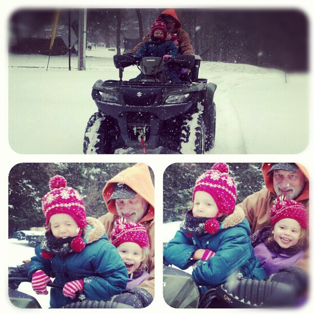 Four-wheelin fun with Grandpa!