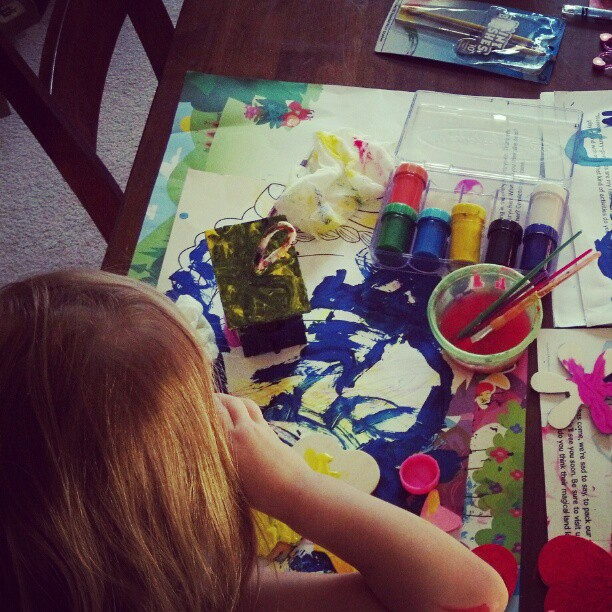 The morning toddler painter's guild.