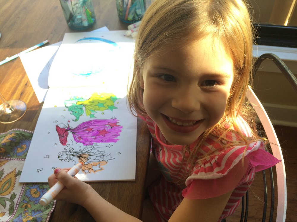 My daughter Bri stoked about coloring LoLo Star!