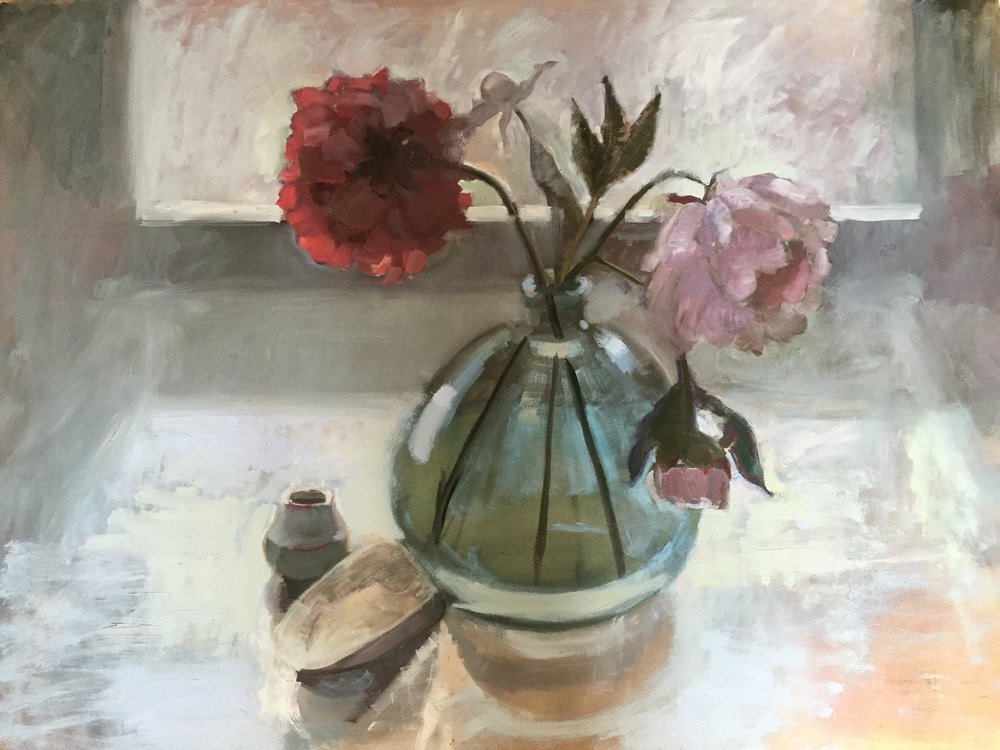 Peonies and Shell