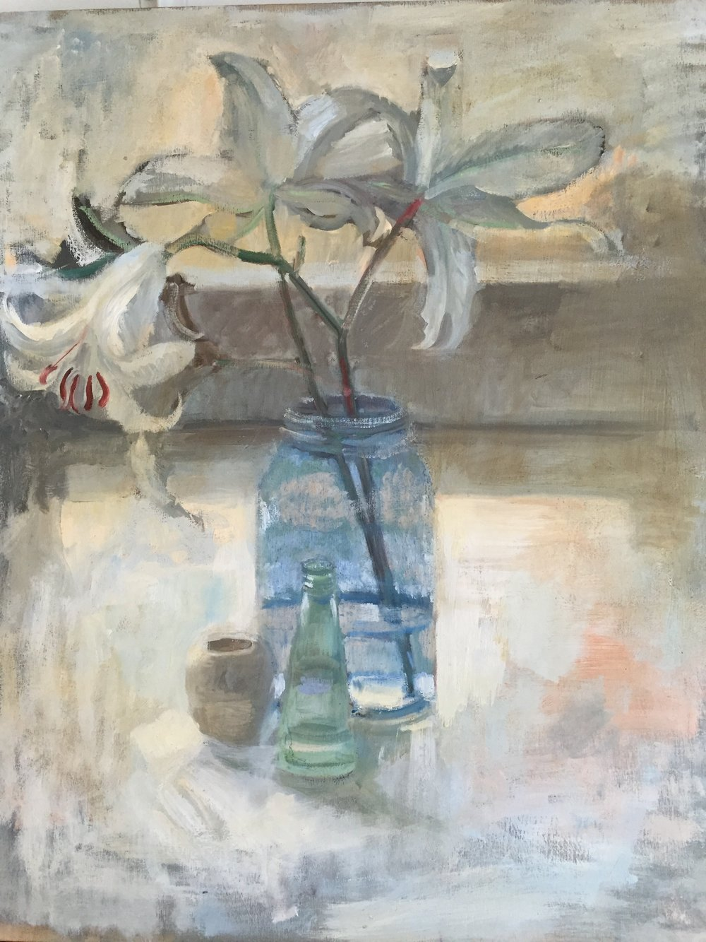 Lilies and Pots