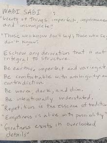 Notes from Leonard Koren's book on Wabi Sabi