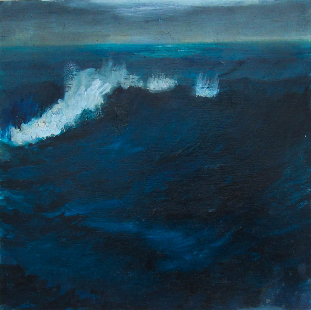 "Sable Surf / 8 x 8"" / oil on birchwood panel"