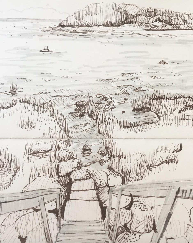 sketch from little neck, massach