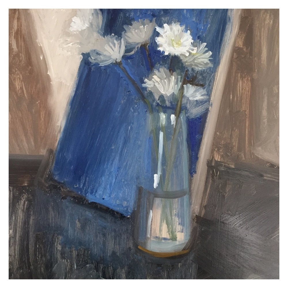 Vase with Mums
