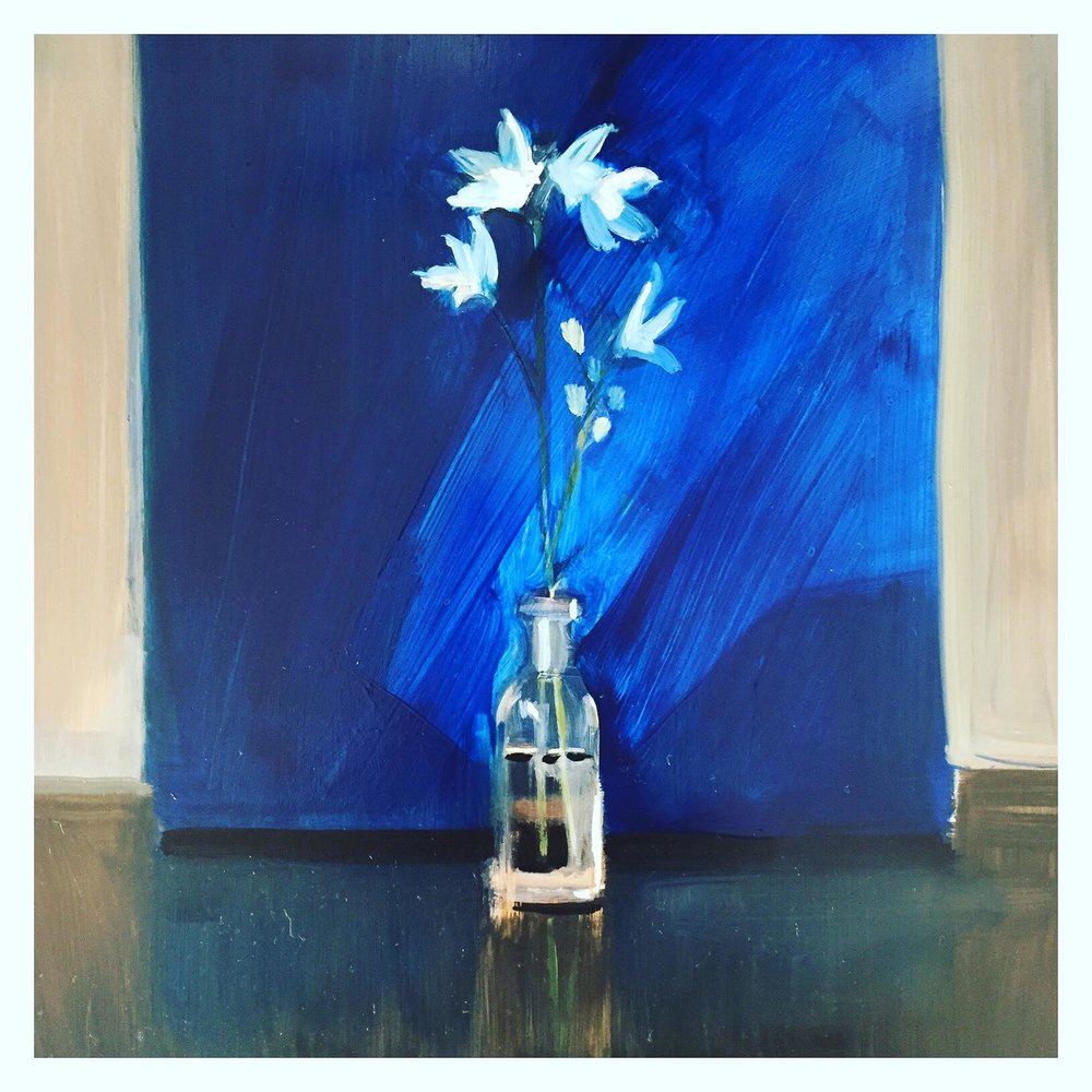 Flowers with Blue