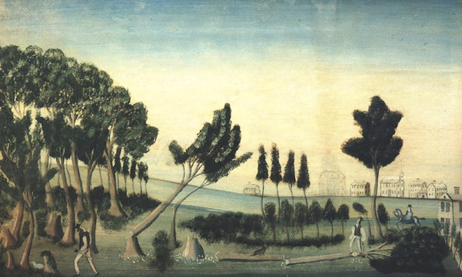 View of Paris Hill, 1802.  Artist unknown.