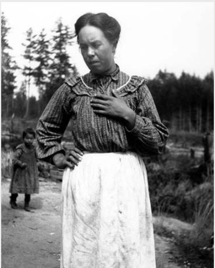 Mrs Lottie Bagley, Squaxin Reservation, 1905