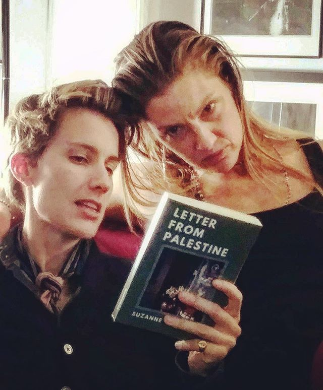 Nik & Lauren at the book fiesta #LetterFromPalestine #NYC