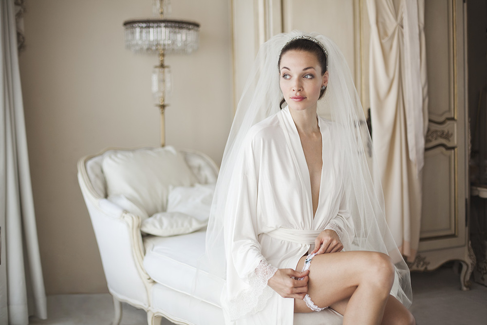 Make your wedding night just as special as your wedding day. Kimono robe by Naked Princess.