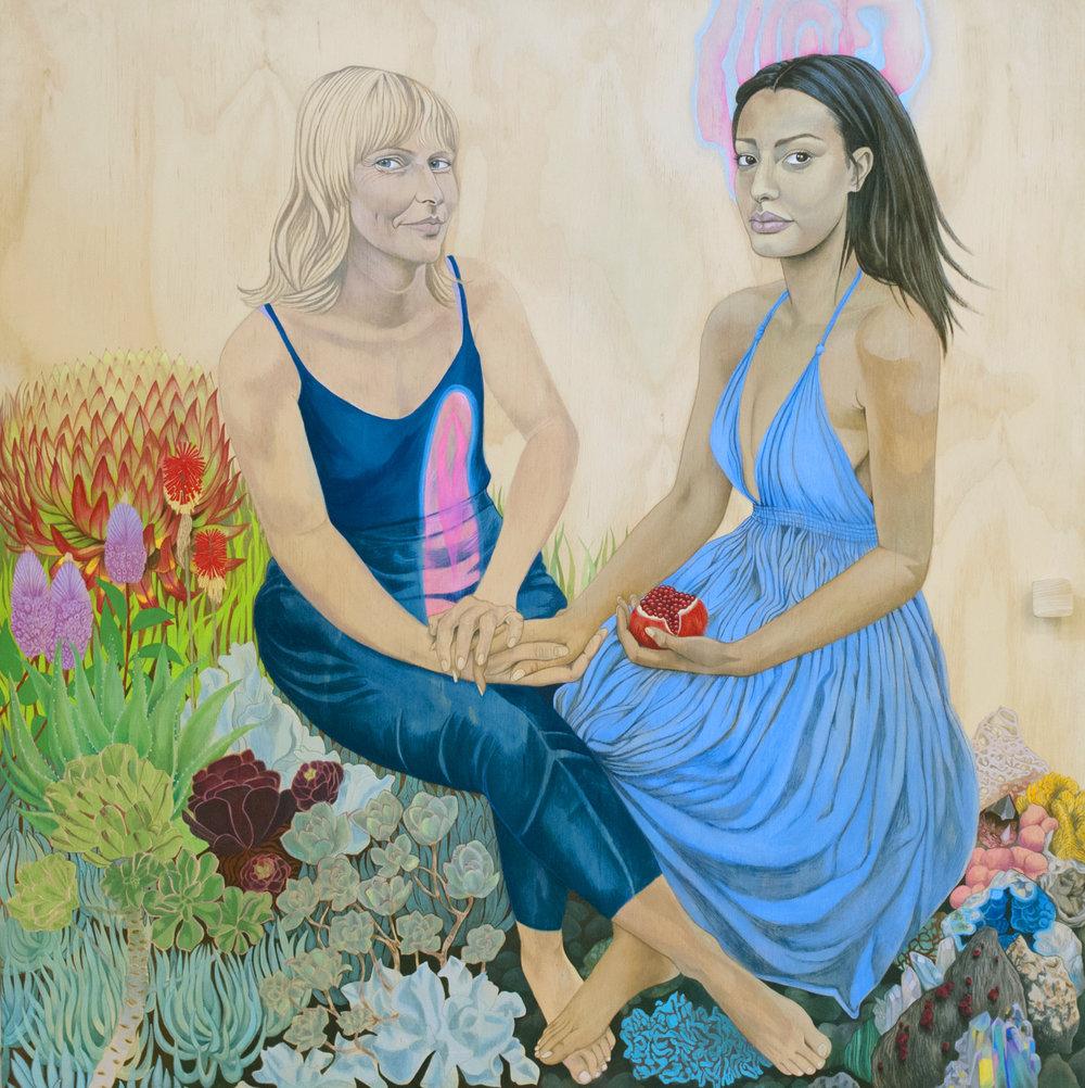 Lucia & Mila (detail), 2016