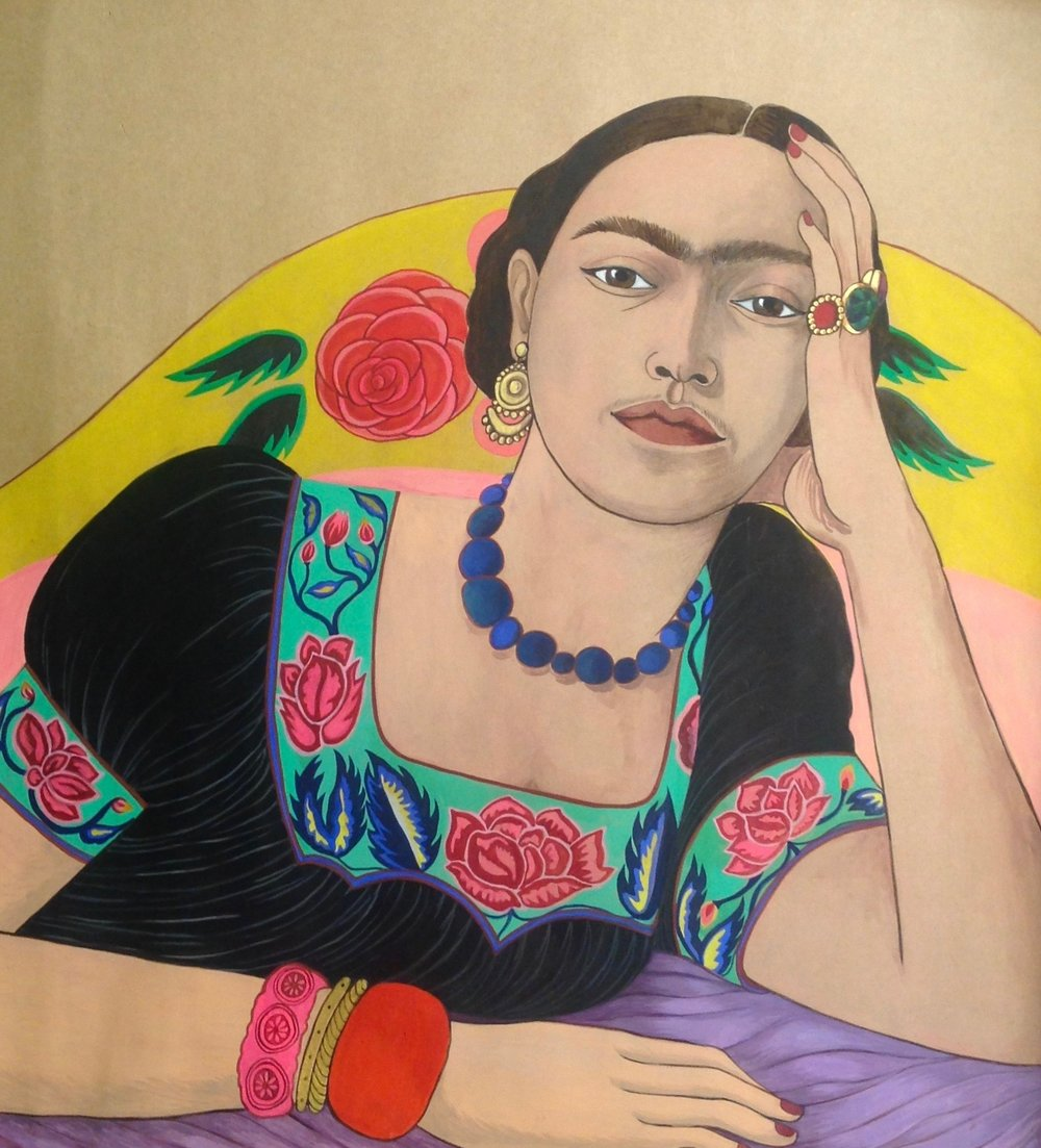 Frida Kahlo in bed, 2015