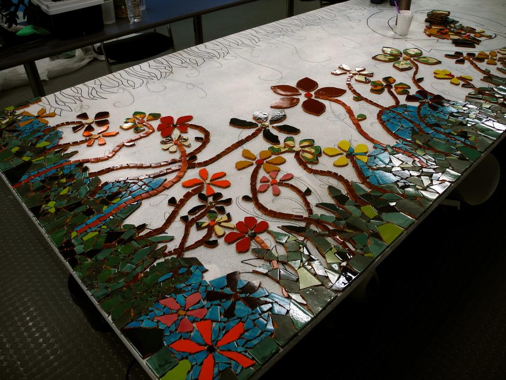 Mosaic work in progress 1/13/14.