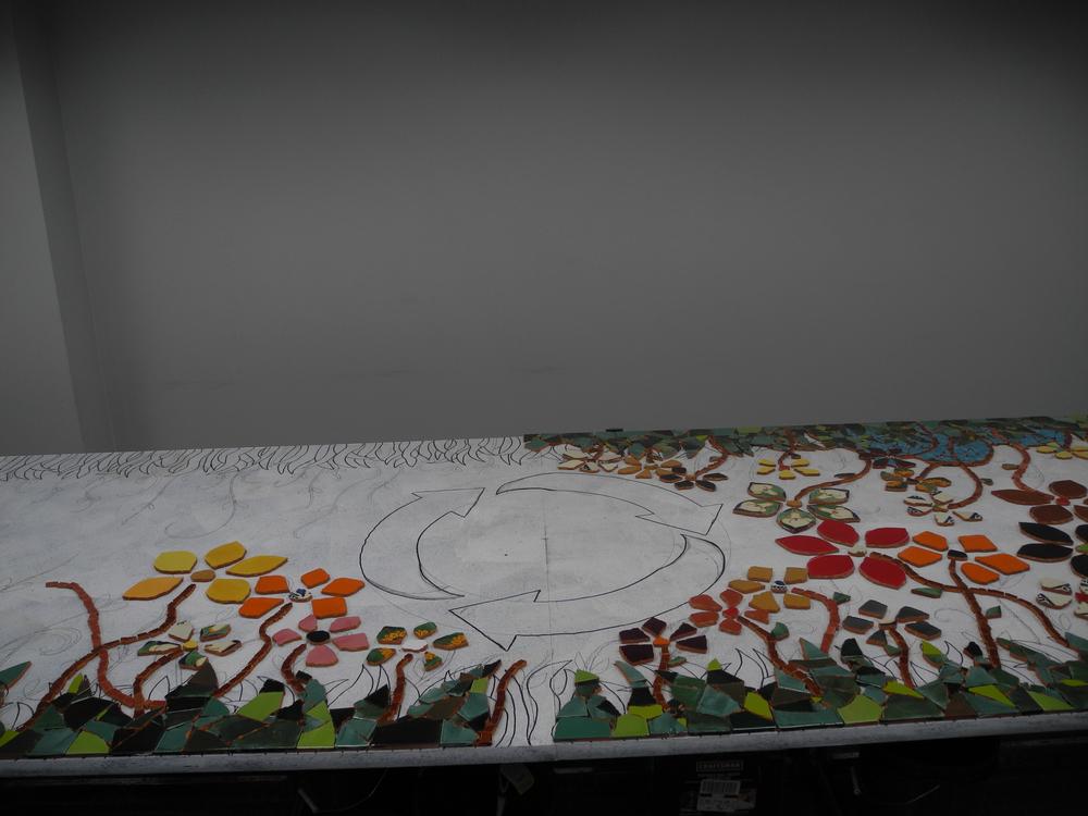 Mosaic work in progress. 1/20/14.