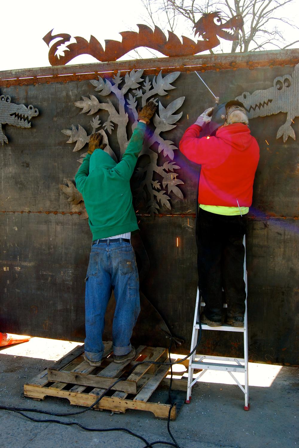 RB Scrap Iron Art Fence Work in Progress_April_4.jpg