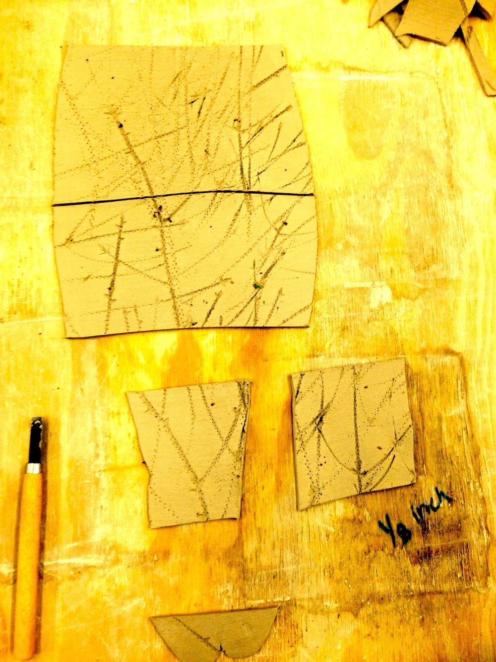 Second full day in the studio. Time spent making tiles. Felt so good.