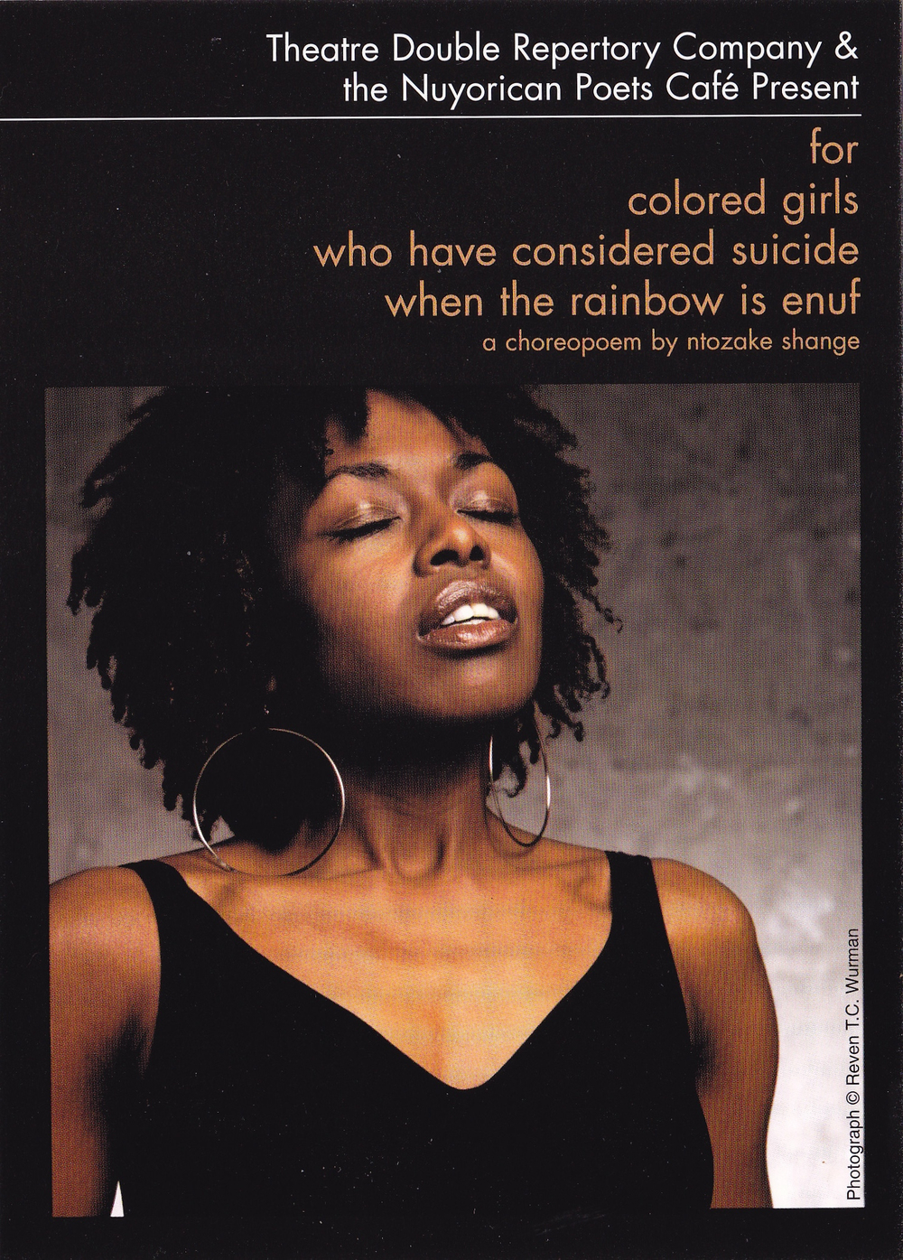 Shelita Birchett Benash  Promotional postcard 2002.