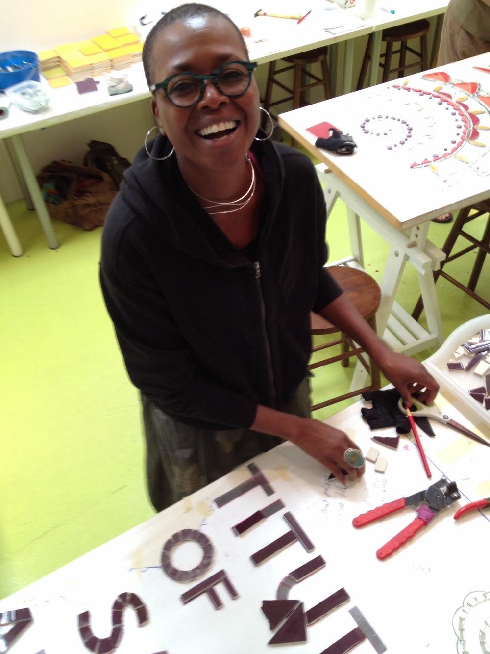 Shelita Birchett Benash Laurel True Mosaic Mural Intensive Institute of Mosaic Art