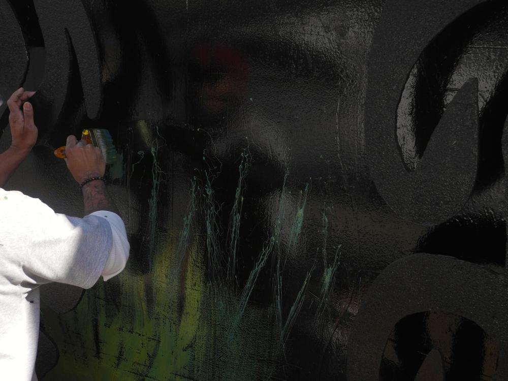 Smezs Lorinzer began painting 10/19/14.