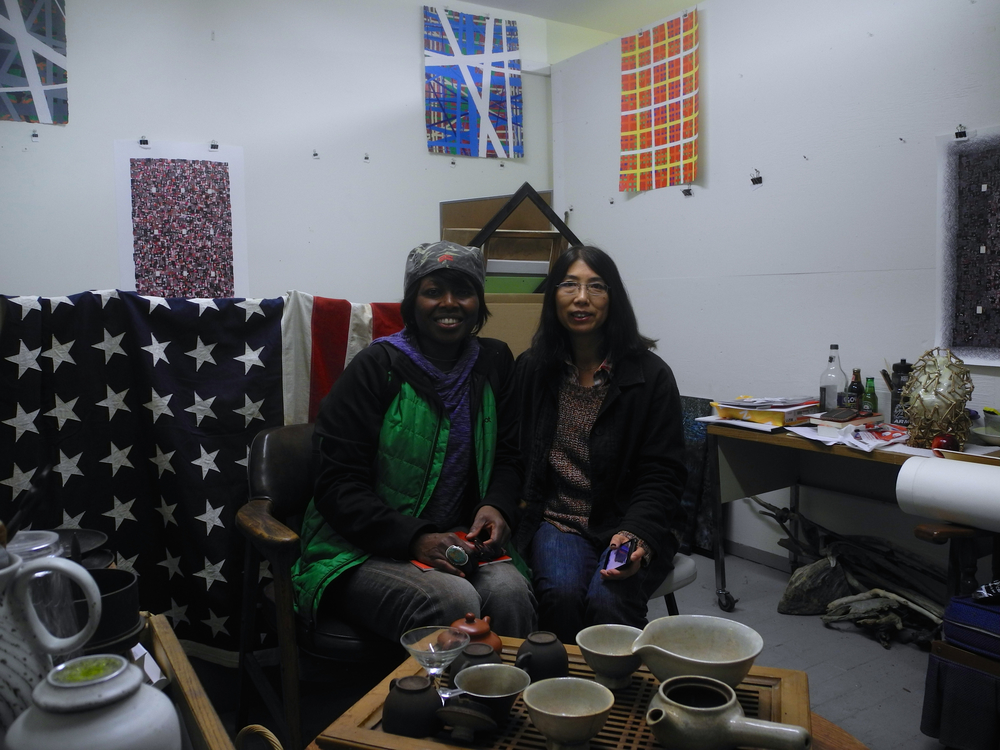 Xuewu Zheng and Wen Li invited me up to their studios. Wen Li is an amazing painter.