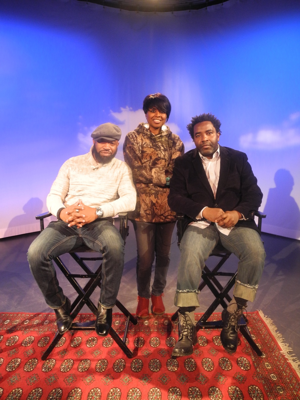 Shelita Birchett Benash with Anthony E. Boone and Noel Donaldson at the MNN studios in NYC. February 11, 2015.