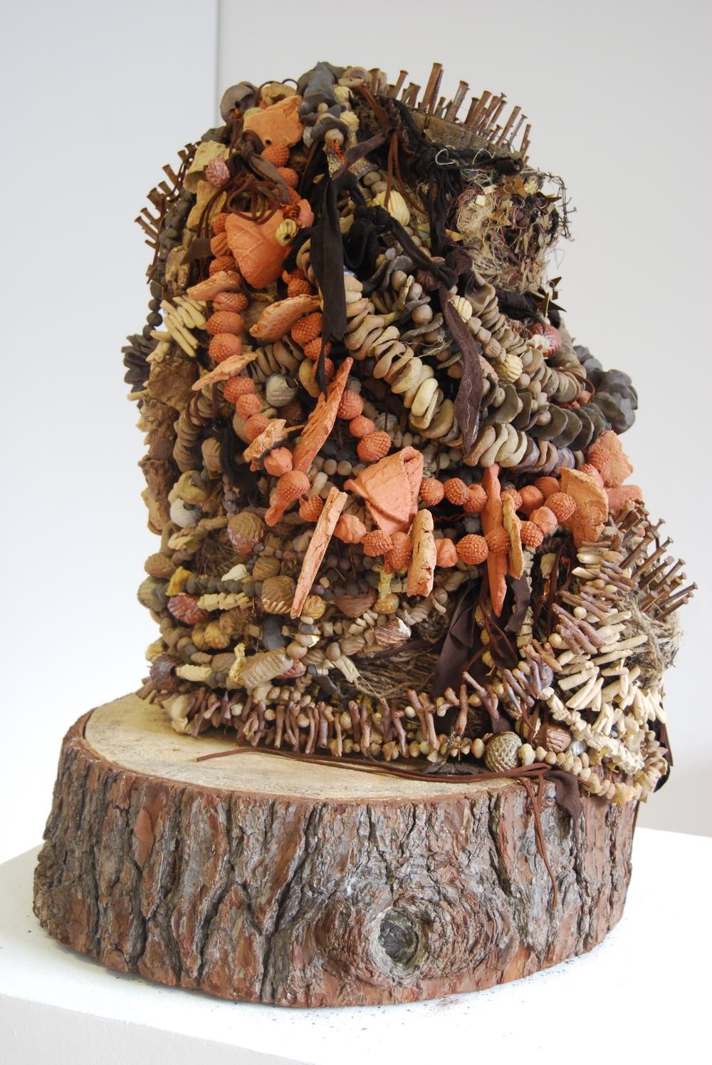 """The Offering III"" "" Ceramic mixed media sculpture by Shelita Birchett Benash, 2015."