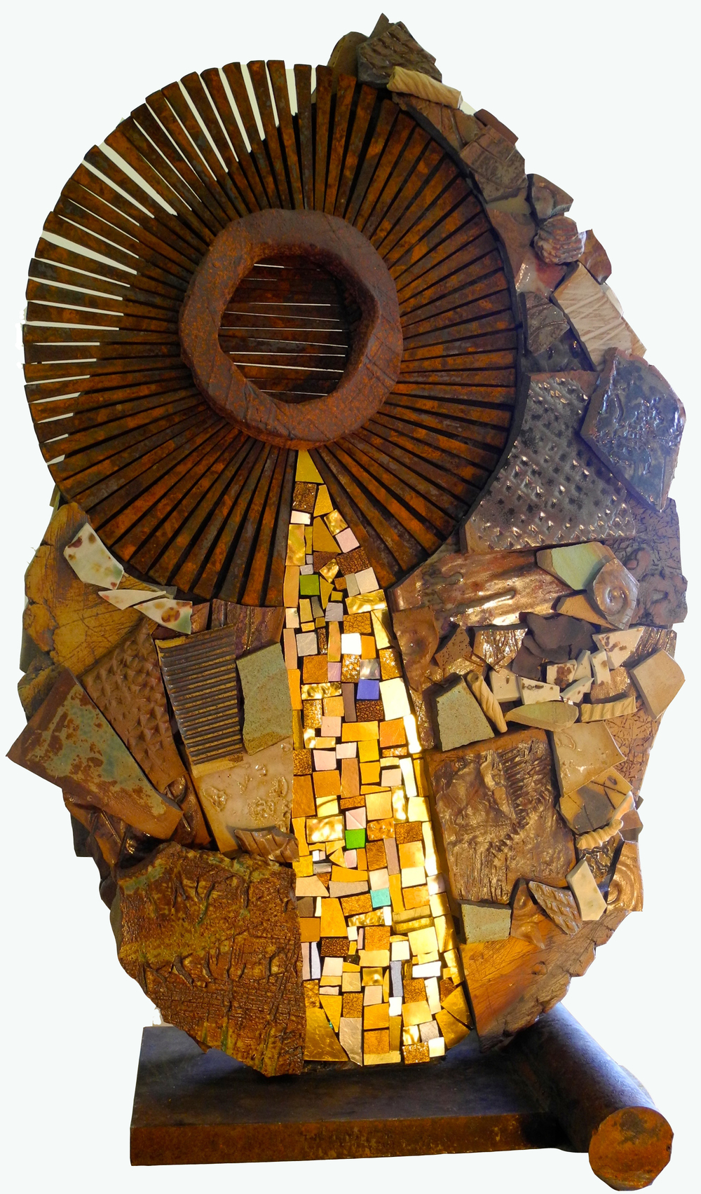 Conjure   High Fire Ceramic Mixed Media Mosaic Sculpture by Shelita Birchett Benash