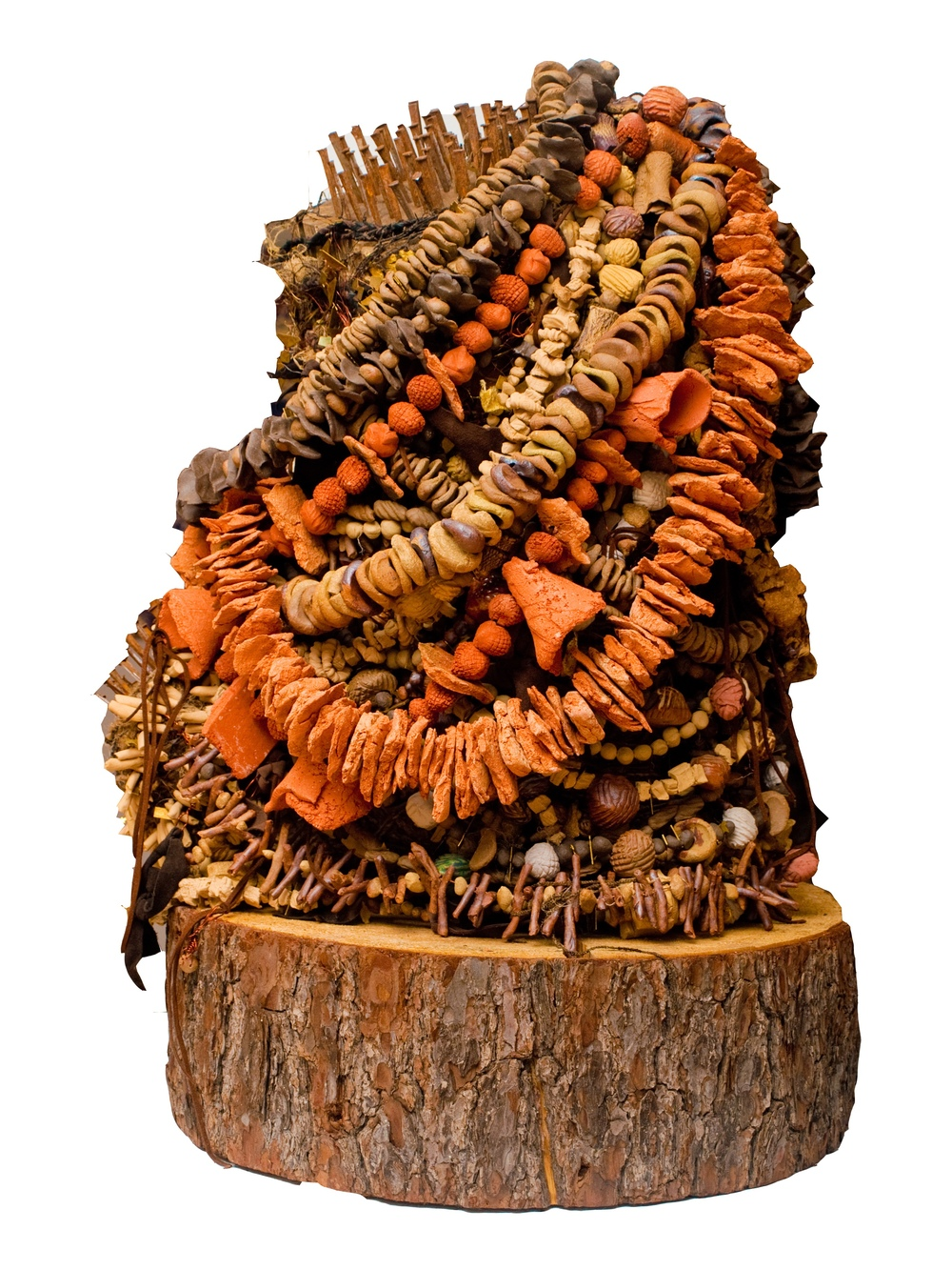 ©Offering III High-fire ceramic mixed media sculpture by Shelita Birchett Benash, 2015.