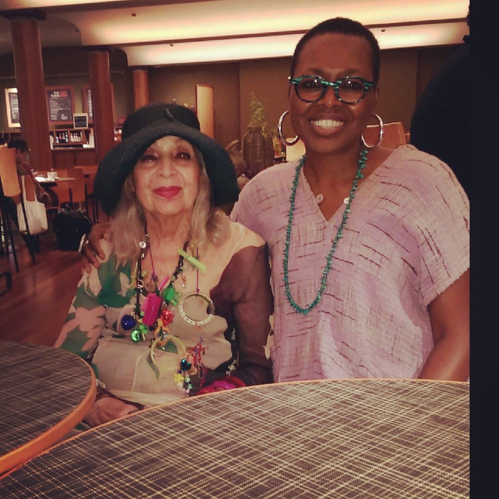 Shelita Birchett Benash with Malcah Zeldis at the Rubin Museum after the documentary screening of  Fabulous Fashionistas,  hosted by Sue kreitzman. Photo by Sue Kreitzman