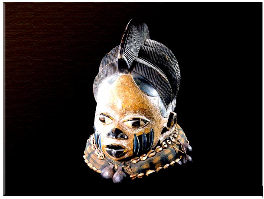 Yoruba Wooden Polychrome Gelede Mask