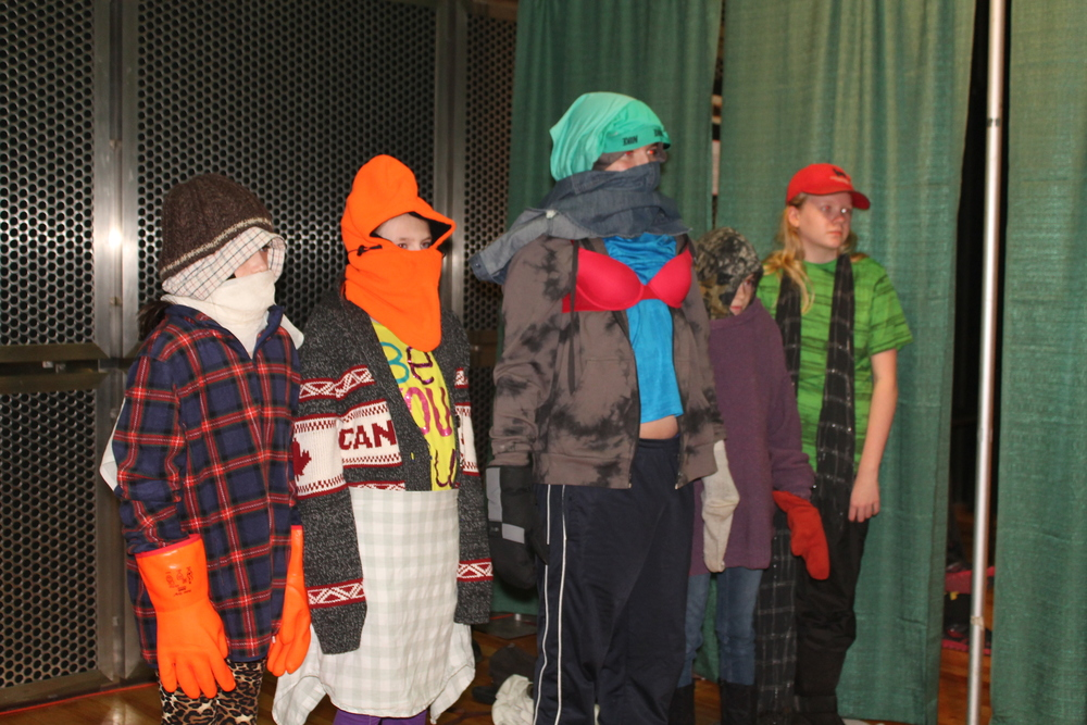 Visiting Grade 6 students as mummers.jpg