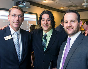 Judge Reuben M. Green with Alvaro Arauz and Sean Ditzel.  Photo by Zach Porter.