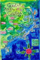 Coastal North Carolina Map NC