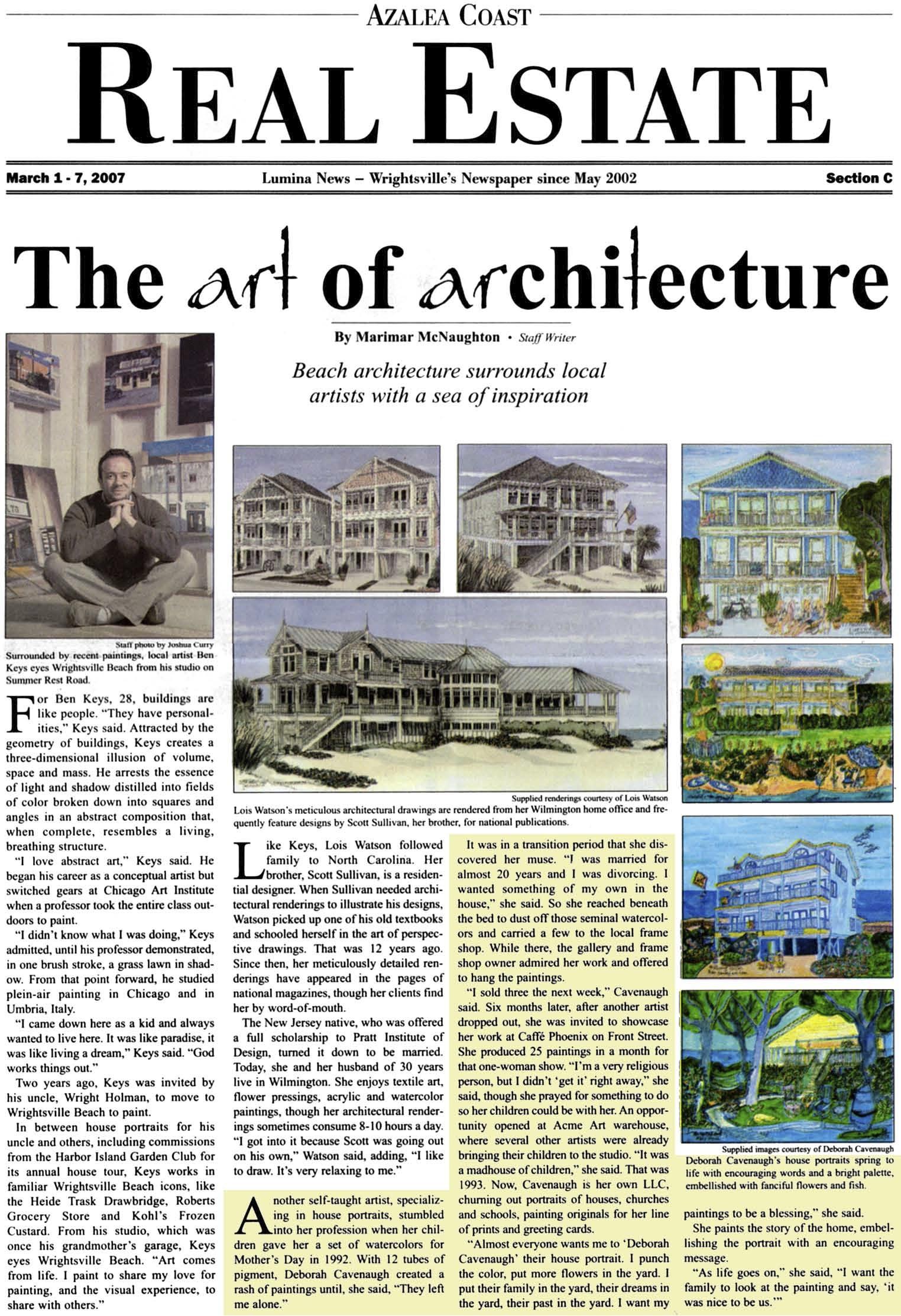 Lumina Magazine: The Art of Architecture — Deborah Cavenaugh