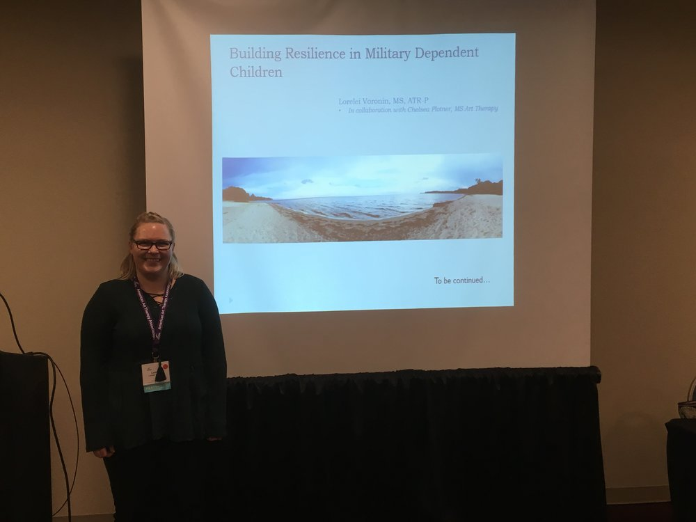 Lorelei Veronin, ATR-Provisional (from San Antonio) presented on Building Resilience in Military Dependent Children