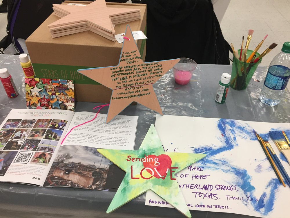 Stars of hope collected for Sutherland Springs