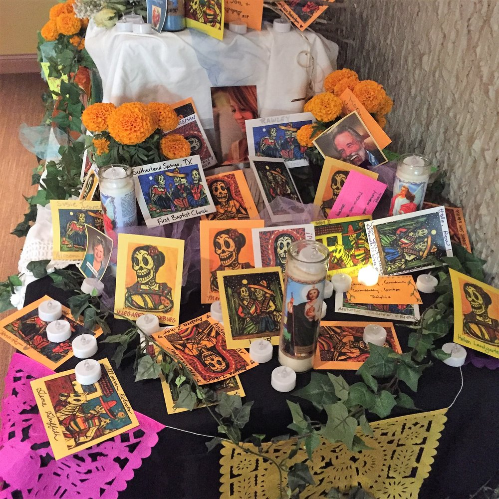 Dia de Los Muertos memorial at the conference.
