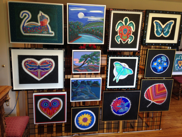 Some of the paintings I had on exhibit April 25-26 on the Durham West Studio Tour