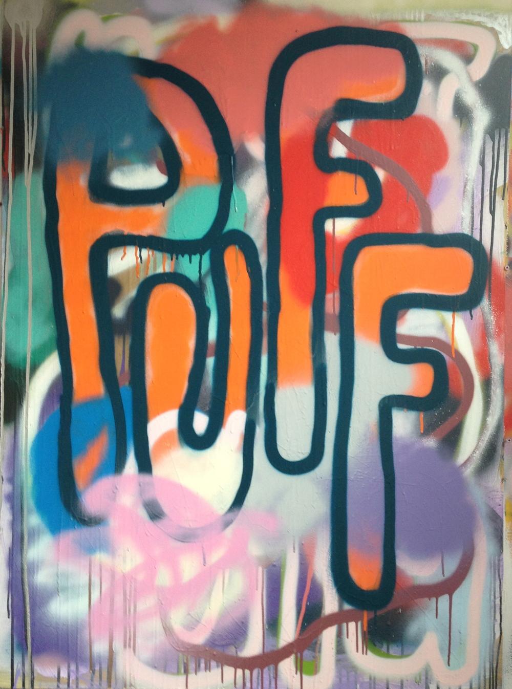 "PUFF, 48"" x 35"", Acrylic on Board"