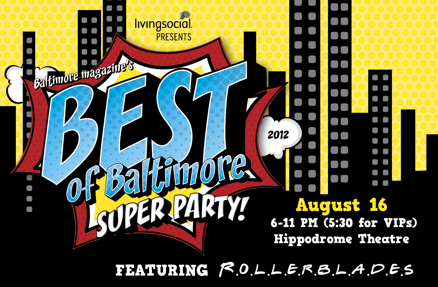 Rollerblades is the 2012 Best of Baltimore Party Band!