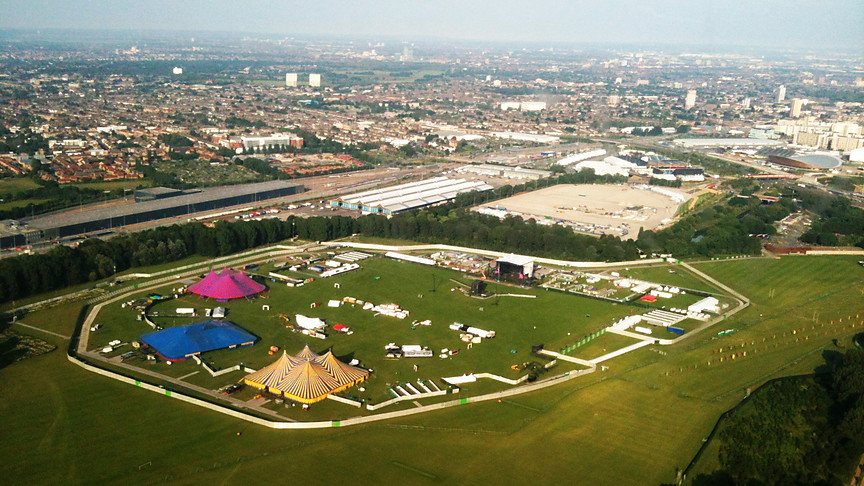 The Hackney Weekend site, taken from the Essex & Herts Air Ambulance
