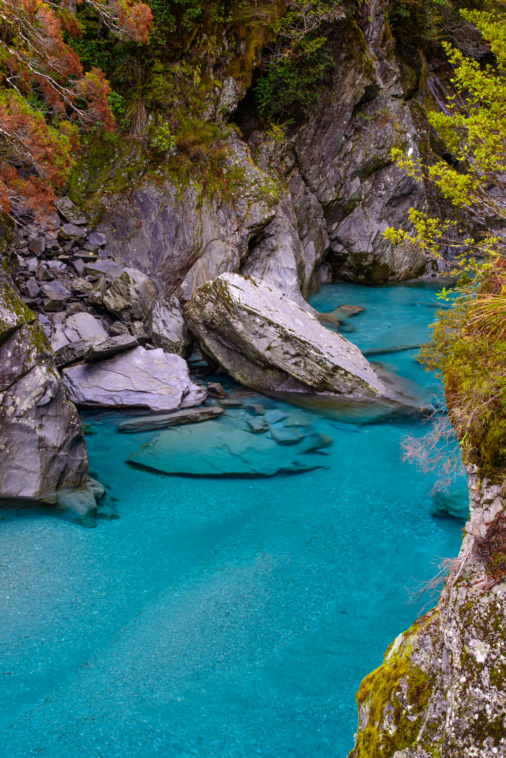 Blue Pools - West Coast, New Zealand